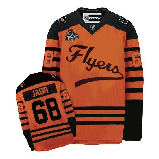 e5271b9c9 Reebok Jaromir Jagr Philadelphia Flyers Authentic 2012 Winter Classic Jersey  - Orange