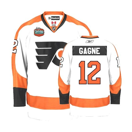 Reebok Simon Gagne Philadelphia Flyers Premier Winter Classic Jersey - White 60d343727