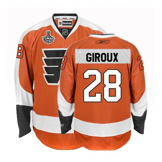 ae97feca Reebok Claude Giroux Philadelphia Flyers Authentic Home Jersey with Stanley  Cup Finals Patch - Orange